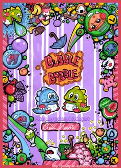 Bubble Bobble - Life is a Game by PeterPan-Syndrome.deviantart.com on @DeviantArt
