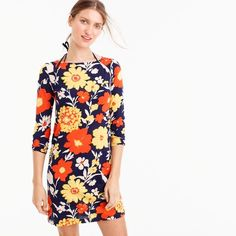 Tunic dress in vintage floral
