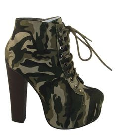 Another great find on #zulily! Forever Link Shoes Camo Jordon Bootie by Forever Link Shoes #zulilyfinds