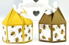 Pootles' Beehive Box Tutorial using Stampin' Up! DSP