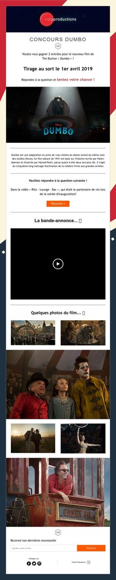 CONCOURS DUMBO Film Tim Burton, Coin Toss, New Movies, Pageants