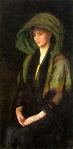 labellefilleart:  The Green Calash, Ellen Day Hale