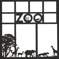 Zoo 12 x 12 Overlay Laser Die Cut (¥545) ❤ liked on Polyvore featuring frames and backgrounds