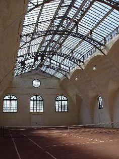 indoor pool and tennis court