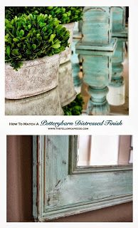 How To Match a Potterybarn Distressed Finish~DIY tutorial on painting a mirror to match PB candlesticks - Home Decorating DIY Paint Furniture, Furniture Projects, Furniture Makeover, Building Furniture, Recycled Furniture, Furniture Design, Silhouette Projects, Construction Palette, Home Decoracion