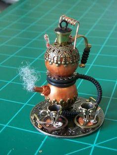 Steampunk Tea Set - Steampunk - Gallery - The Greenleaf Miniature Community