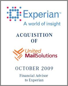 Experian is an in London listed company with a total  revenue of  $3.9 billion in 2009 and 15.000 employees in 40 countries. With CheetahMail, Experian is  the world-largest e-mail marketing service provider, covering 25 languages and 50 countries.    Parklane Capital provided support with the expansion of the international business threw the acquisition of a strong European player.     Parklane provided buy-side consultancy of Experian with drawing up a detailed market overview.