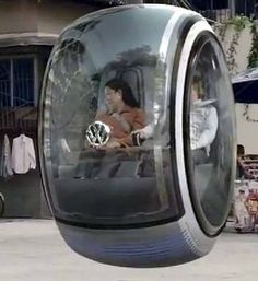 Volkswagen Floating Car (Concept): The Volkswagen Hover Car is a pod-like zero-emissions vehicle that uses electromagnetic road networks to float above the road. Floating Car, Design Transport, Hover Car, Auto Volkswagen, Volkswagen Germany, Kdf Wagen, Vw Cars, Chengdu, Luxury Cars