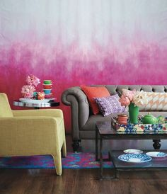 Top Beautiful Living Room Paint Colors Ideas and Inspiration - Interior paint colors, blue paint colors Room Paint Colors, Paint Colors For Living Room, Wall Colors, Deco Design, Wall Design, House Design, Design Trends, Design Ideas, Eclectic Living Room