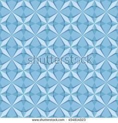 Vector seamless pattern with geometric ornament. Creative vector star. Background with abstract snowflakes