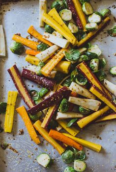 maple roasted harvest vegetables | the clever carrot