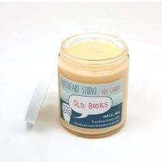 Old Books Book Lovers' Scented Soy Candle by Frostbeard - MN Based Company. Must have!