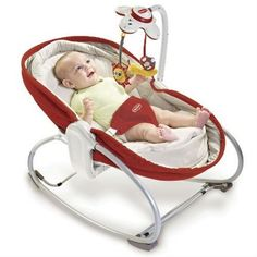 Tiny Love 3in1 Rocker Napper Baby Feeding Sleeping Vibrating Crib Chair Red New #TinyLove