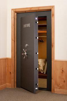 Vault Doors For Panic Rooms & Walk-In Safes - Fort Knox Executive 8248 Vault Door Safe Room Doors, Gun Safe Room, Safe Door, Security Room, Best Home Security, Fort Knox Safe, Vault Doors, Panic Rooms, Gun Rooms