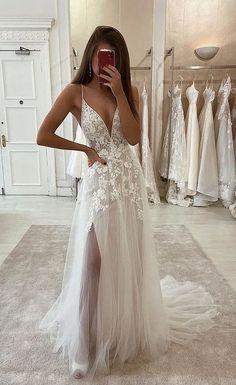 Pretty Prom Dresses, Cute Wedding Dress, Country Wedding Dresses, Wedding Dress Trends, Best Wedding Dresses, Ball Dresses, Cute Dresses, Bridal Dresses, Beautiful Dresses
