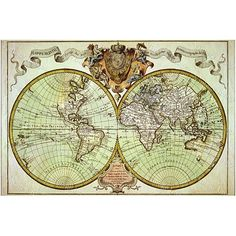 Old world map wall tapestry beige wall tapestries tapestry and old world map restoration hardware style giant historic 1720 world map old antique fine art print wall decor gumiabroncs Images