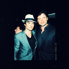 Ian Somerhalder & Tom Welling what a perfect combo