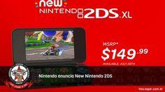Novo modelo volta a seguir a linha tradicional dobrável e sem a função 3D.  #Nintendo #3DS #2DS #New3DS #New2DS #VaoJogar #VideoGames #Games #InstaGames