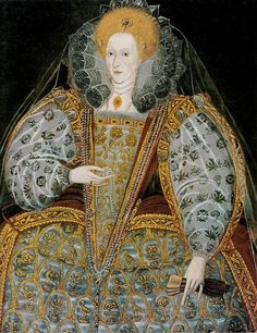Elizabeth I Unknown Artist British School c. 1600 - Category:Portrait paintings of Elizabeth I of England - Wikimedia Commons Elizabethan Costume, Elizabethan Fashion, Elizabethan Era, Renaissance Fashion, Renaissance Art, 1500s Fashion, Elizabeth Bathory, Elizabeth I, Isabel I