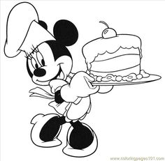 Free Printable Birthday Coloring Pages | ... Birthday Cake (Cartoons  Mickey Mouse) - free printable coloring page