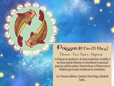 Comme Einstein et Victor Hugo, un de vos amis est un Poisson ? Alors faites-lui savoir en envoyant cette carte horoscope via http://www.starbox.com/carte-virtuelle/carte-horoscope/carte-horoscope-poisson, c'est gratuit !