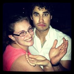 Celebrity Darren Criss and me throwing dolphin fins for Alpha Omega Epsilon #AOE #alphaomegaepsilon