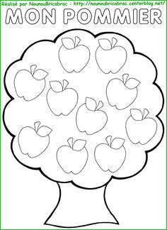 Yarn Crafts For Kids, Fall Crafts, Preschool Activities, Fruit Coloring Pages, Colouring Pages, Apple Coloring, Apple Activities, Autumn Activities, September Themes