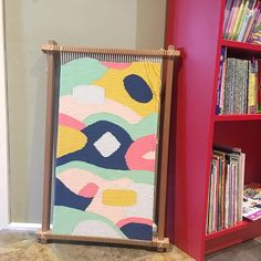 Hand woven tapestry wall hanging. 'Summer Sorbet' one
