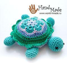 Черепашка Тина: вяжем крючком из мотива Африканский цветок