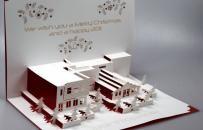 Christmas card Lasercut   Design Ingrid Siliakus  production Point to Paper