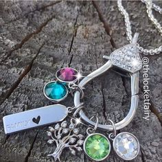 Design you necklace with dangles from Origami Owl. Add more whenever you would like ❤️ Visit: https://dreambig.origamiowl.com #jewellery #necklaces #diy #designideas