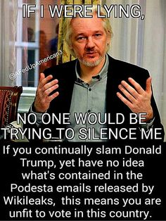 If he ASSANGE were lying no one would be trying to silence him