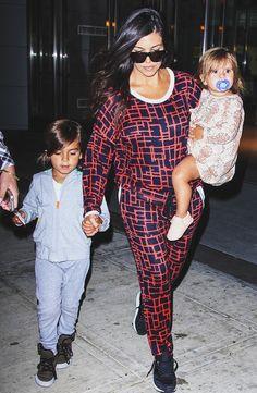 Kourtney Kardashian With Mason And Penelope Disick