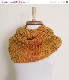 BLACK FRIDAY SALE Orange Cowl Neckwarmer With by knittingshop, $39.60