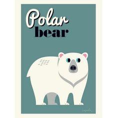 Affiche Polar Bear Ingela P. Arrhenius