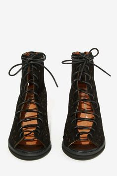 Jeffrey Campbell Cors Bootie, basically gift wrap for your feet.