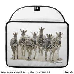 "Zebra Harem Macbook Pro 15"" Sleeve"