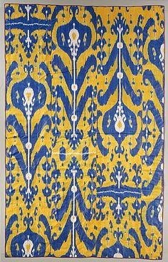 Silk ikat, Uzbekistan, ca. 1900-1910