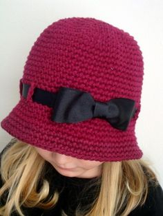 Burgundy color hat for girl Any sizes by knits4cuties on Etsy, $18.00