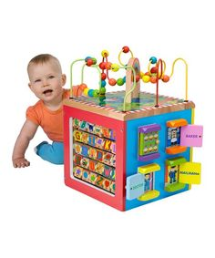 Buy Busy Town Wooden Activity Cube from Educational Toys Planet. Alex' new Busy Town Wooden Activity Cube offers 5 sides of fun and discovery for toddlers! Choose from thousands of age-appropriate best selling toys that make learning fun. Learning Toys For Toddlers, Activities For Boys, Craft Activities, Infant Activities, Toddler Toys, Baby Toys, Kids Toys, Baby Play, Activity Cube