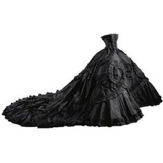 Galliano for Dior Maria Luisa Black Gown - edited nyc14kgold
