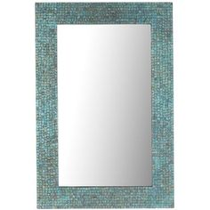 "beaded wall mirror, 36.5""w 