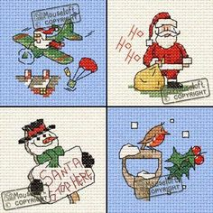 4 new Mouseloft Xmas X-Stitch Kits now in stock