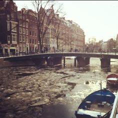 Frozen canals of Amsterdam  #ice #winter #amsterdam