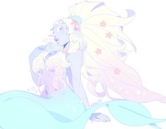 """atta: """" i had to match @l-sula-l's rbq mermaid with an opal….absolutely..fusion mermaid brigade """""""