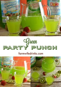 Looking for an easy green punch? This 3 ingredient green punch recipe is easy to make with Hawaiian punch, pineapple juice, and ginger ale and sure to be a favorite at a green-themed party. Alien Party, 90s Party, Party Party, Blue Punch, Green Punch Recipes, Green Punch Recipe For Kids, Green Punch, Party Stuff, Noel