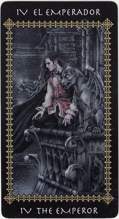 The Emperor sits in a hard and cold environment with a stern expression on his face. He represents masculine power and fatherly responsibilities. {The Emperor - Victoria Frances Tarot}