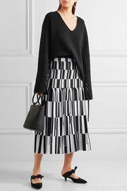 Proenza SchoulerPleated jacquard-knit skirt