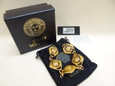 Gianni Versace Gold Medusa Bracelet Home article in custody F/S #GianniVersace