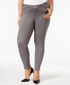 d57f311a37f6b Celebrity Pink Trendy Plus Size Skinny Jeans - Gray 22W Denim Skinny Jeans